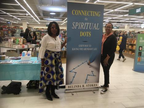 Me & my cousin Susan Kendrick at book signing at Barnes & Noble