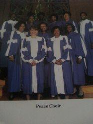 I sang 1st soprano on Peace singing group!