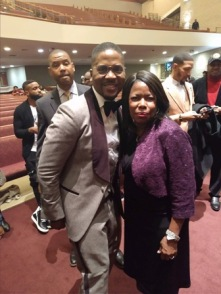 Gospel artist Donald Lawrence & I at his tribute 2019